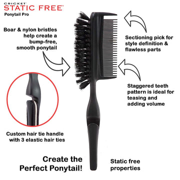 Cricket Static-Free Ponytail Pro Brush