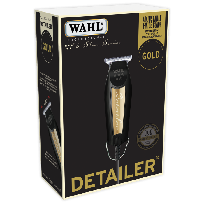 Limited Edition Wahl Black & Gold Corded Detailer Trimmer