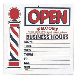 Double Sided Barber Open/Closed Sign