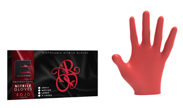Elegance Nitrile Latex-Free Red Gloves
