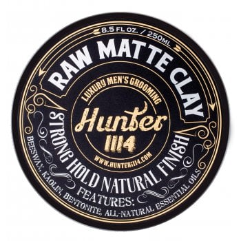 Hunter 1114 Raw Matte Clay Strong Hold Natural Finish
