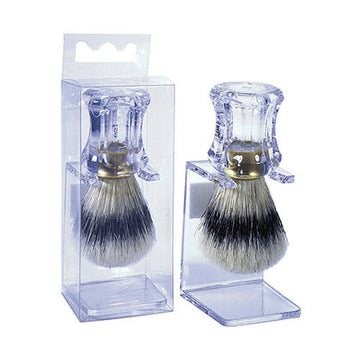 Harry D'Koenig Kingsley Clear Handle Shave Brush
