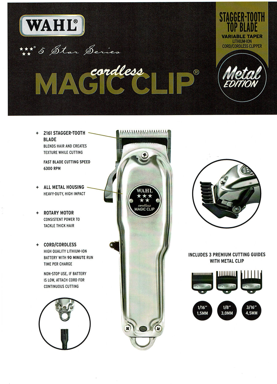 Wahl Cordless Magic Clip 1919 Metal Edition