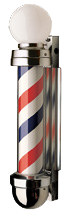 William Marvy Barber Pole No. 333 Non-revolving Two-Light