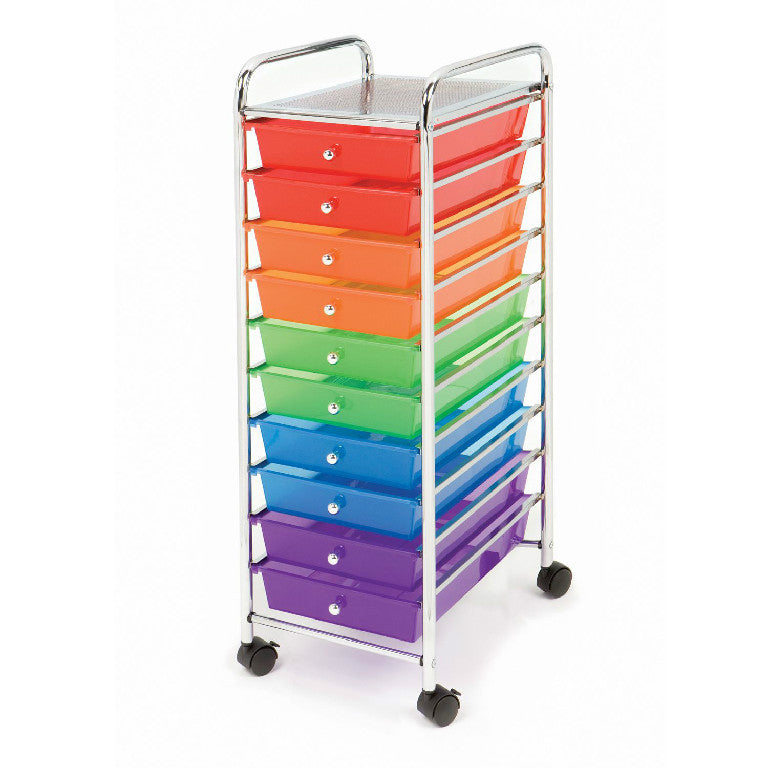 Multi-colored Ten Drawer