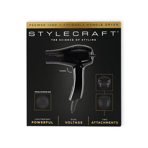 Stylecraft Peewee 1200 Foldable Handle Hair Dryer