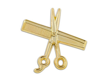 Shear & Comb Lapel Pin (GOLD)