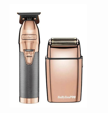 BaBylissPro Rose Gold Cordless Skeleton Trimmer and Shaver Limited Edition Collection