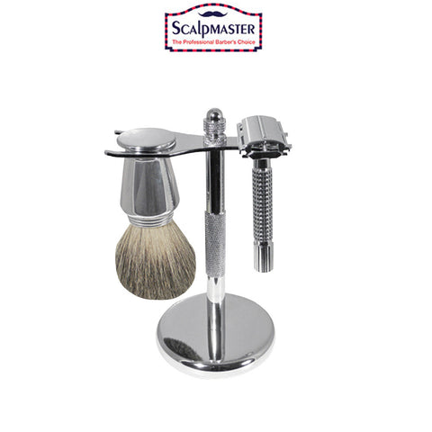 Scalpmaster Chrome Shaving Set