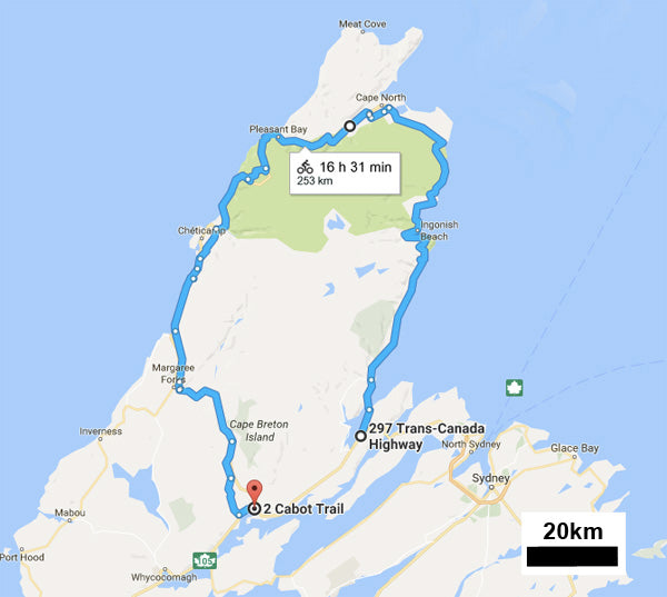 Cabot trail Cape Bretton Bike Tour