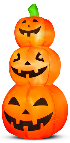 4' Airblown Pumpkin Stack Halloween Inflatable