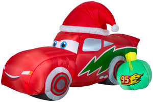 6' Lightning McQueen Christmas Inflatable