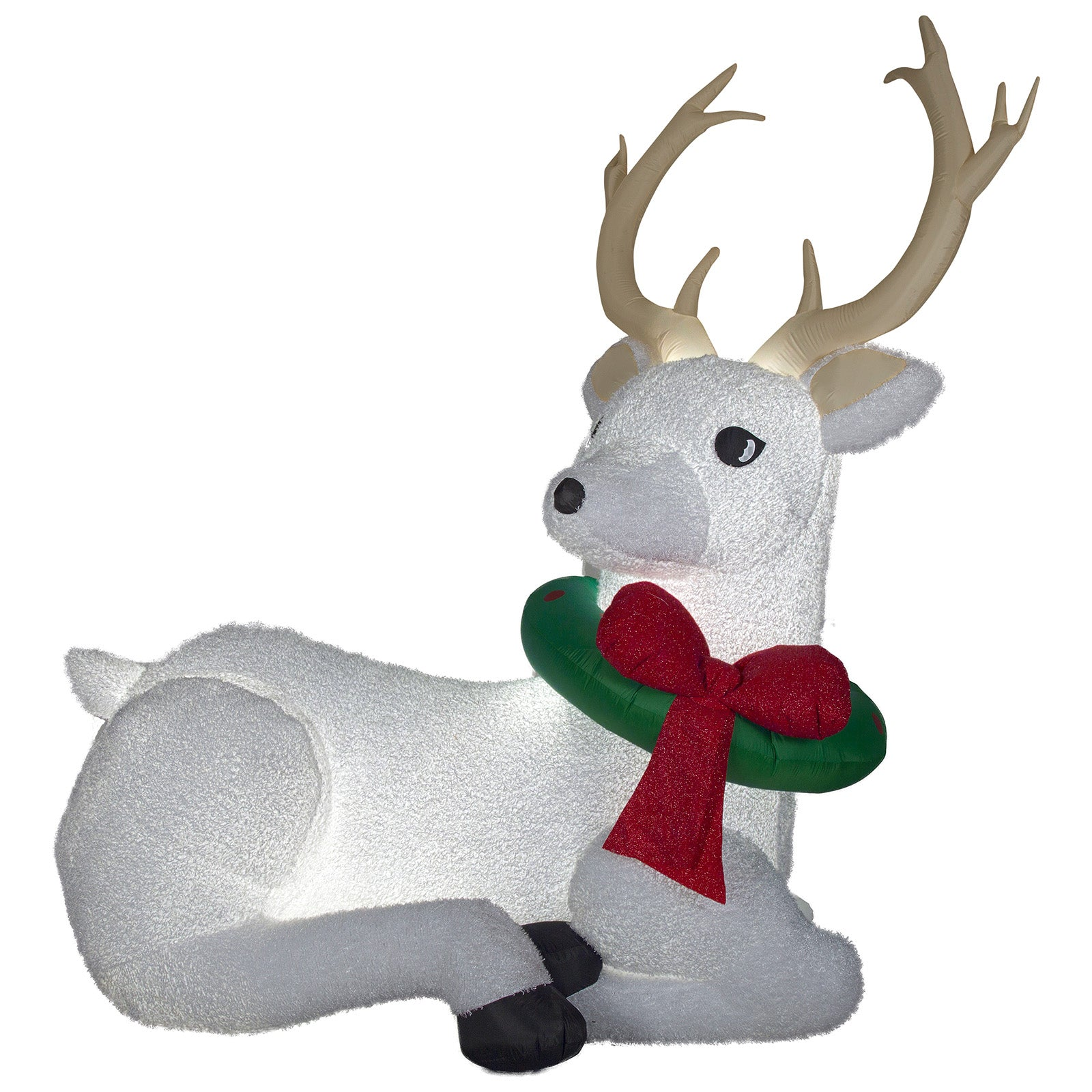 8.3' Airblown Mixed Media Buck Giant Christmas Inflatable