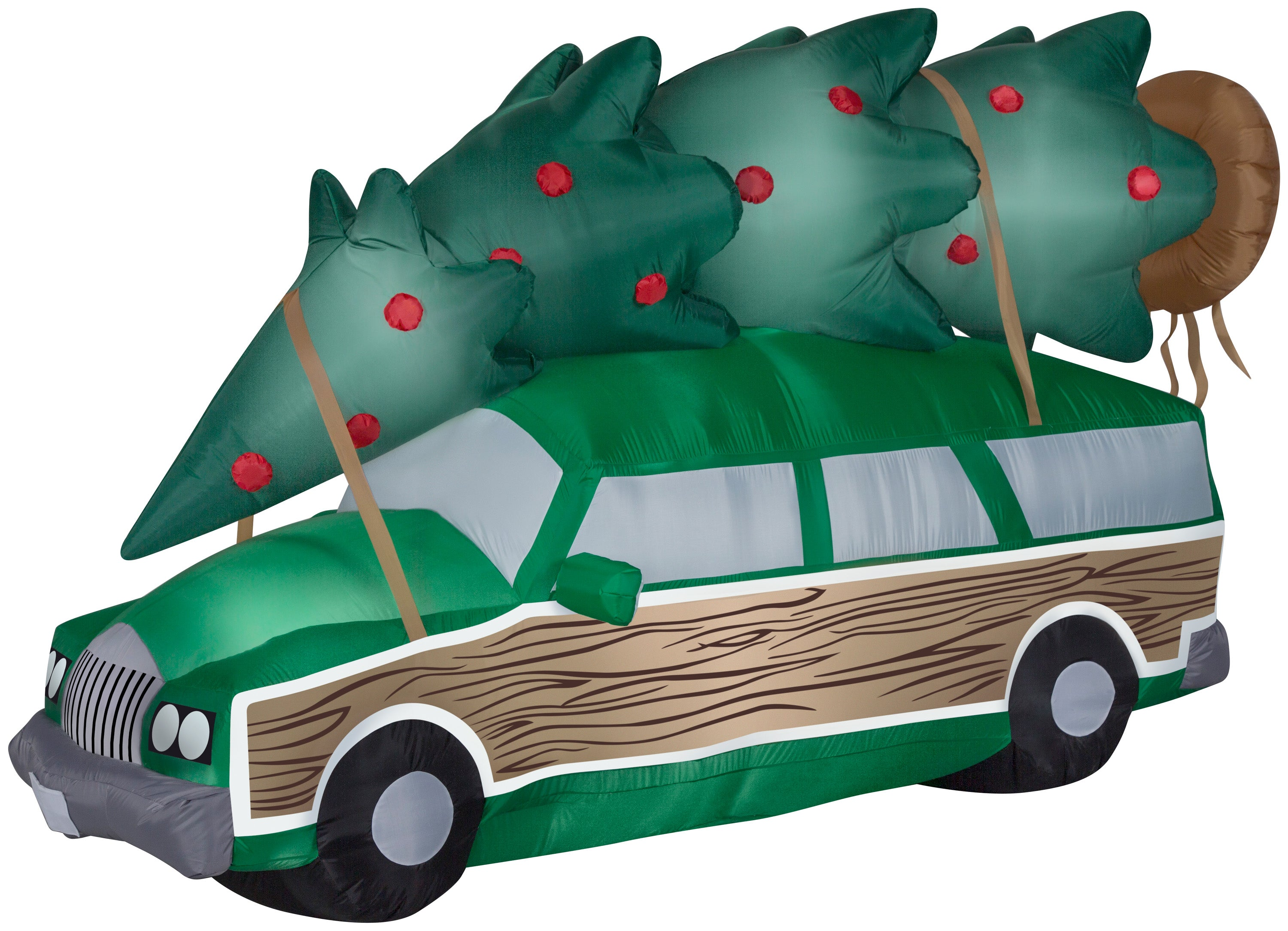8' Wide Airblown Station Wagon w/Tree-Scene Christmas Inflatable