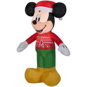 3.5' Airblown-Mickey in Ugly Sweater-Disney Christmas Inflatable