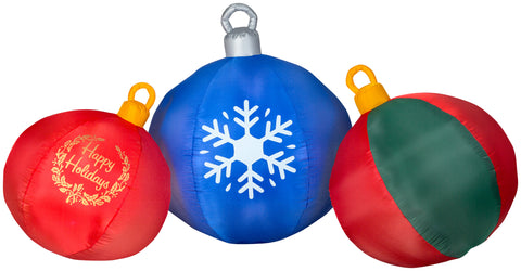 4' Airblown Round Ornament Scene Christmas Inflatable
