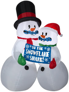 6' Airblown Shivering Snow Couple Christmas Inflatable