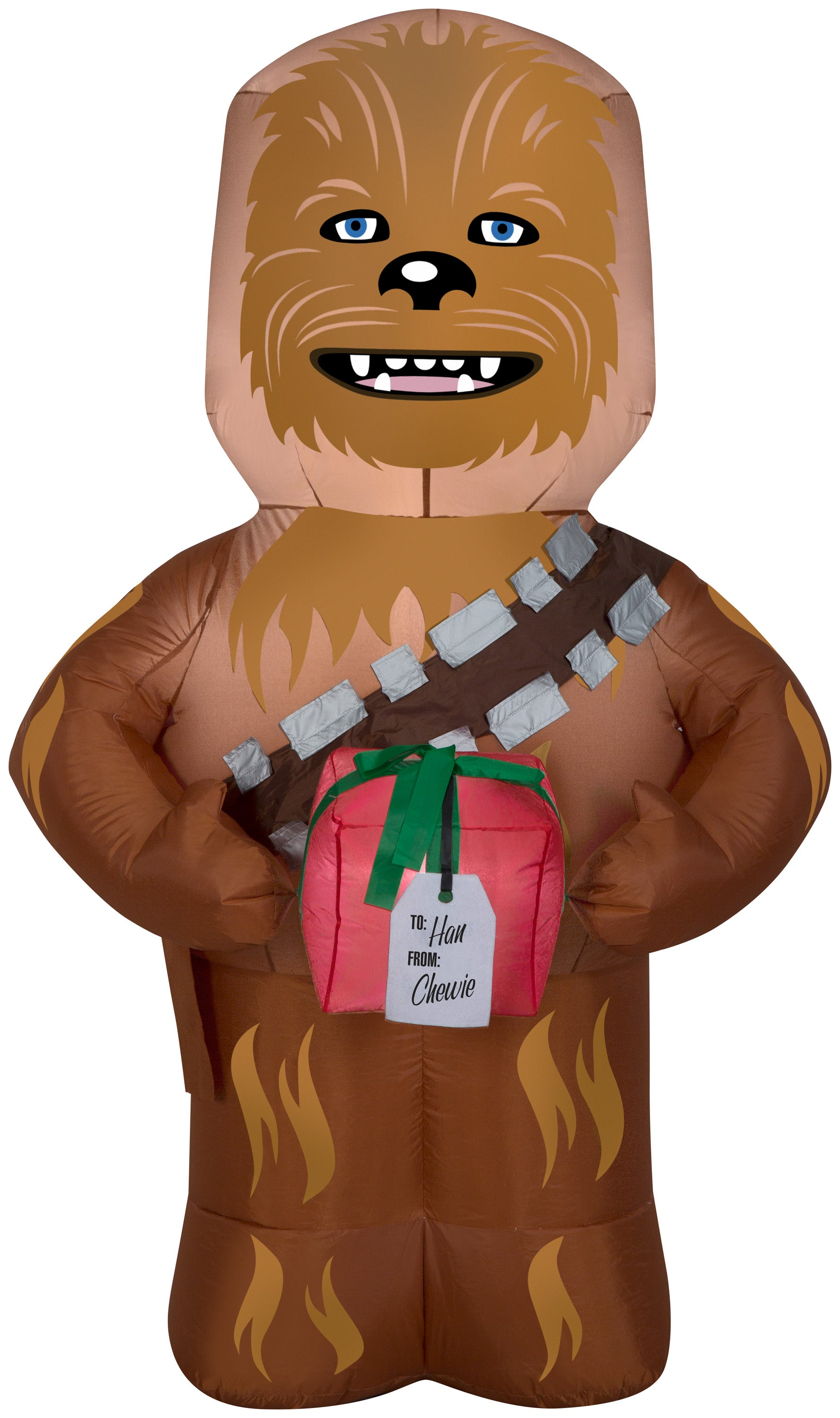 5' Airblown Chewbacca w/Present Star Wars Christmas Inflatable