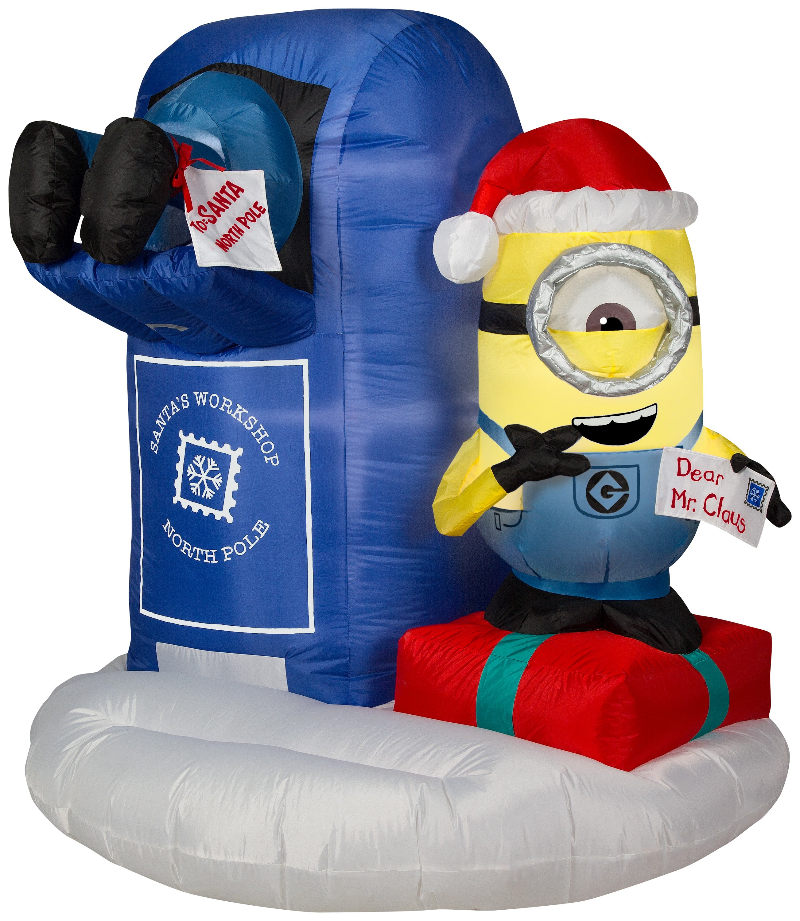 4.5' Airblown Minions w/Mailbox Scene w/LEDs Universal Christmas Inflatable