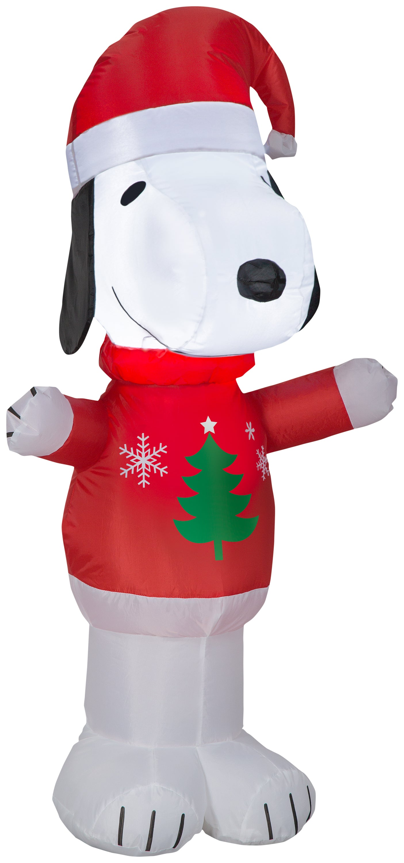 3.5' Airblown Snoopy in Christmas Tree Sweater Peanuts Christmas Inflatable