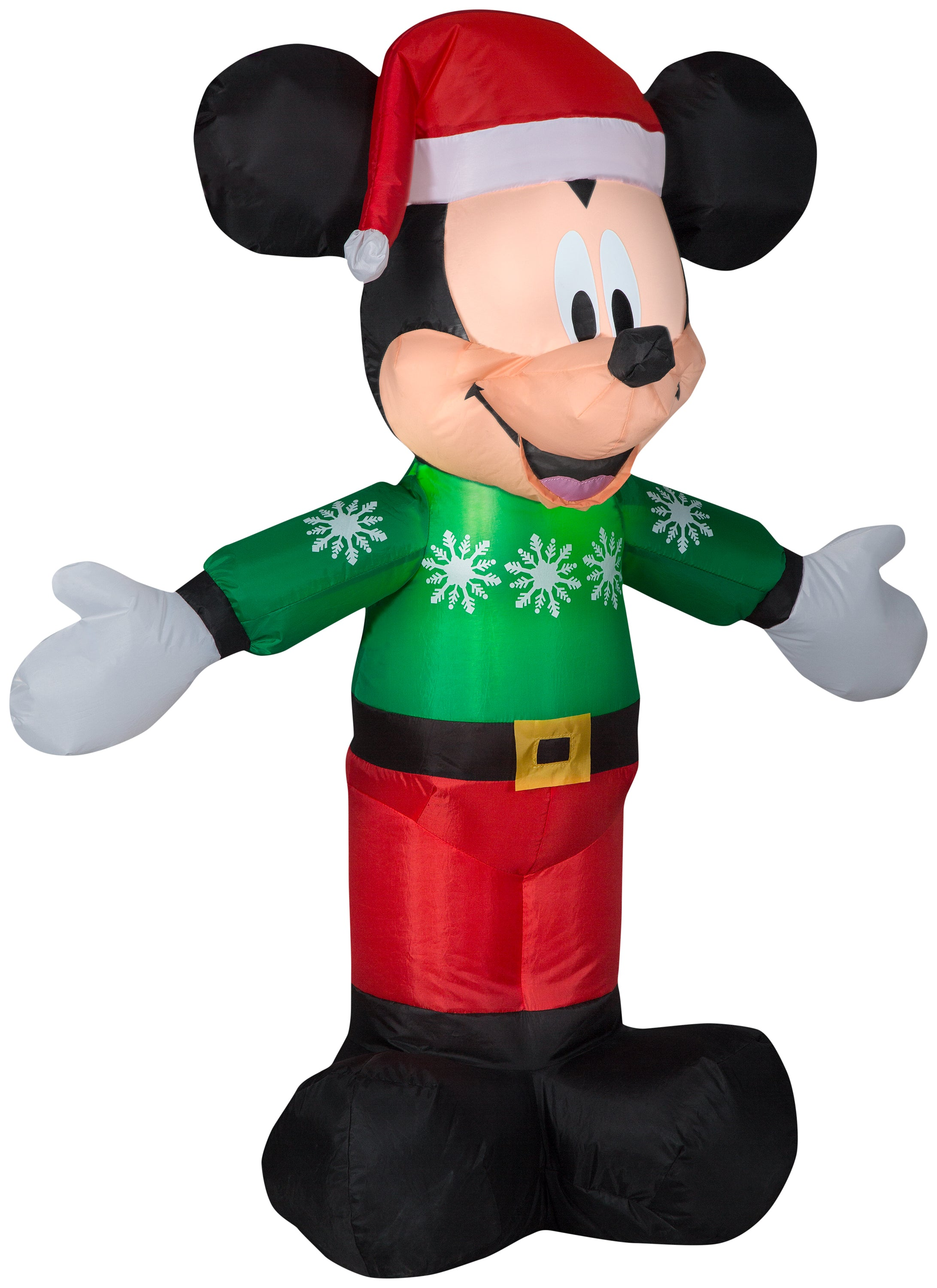 3.5' Airblown Mickey in Green Sweater Disney Christmas Inflatable