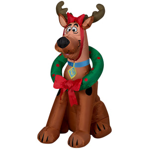Gemmy 3' Airblown Scooby Doo as Reindeer Christmas Inflatable