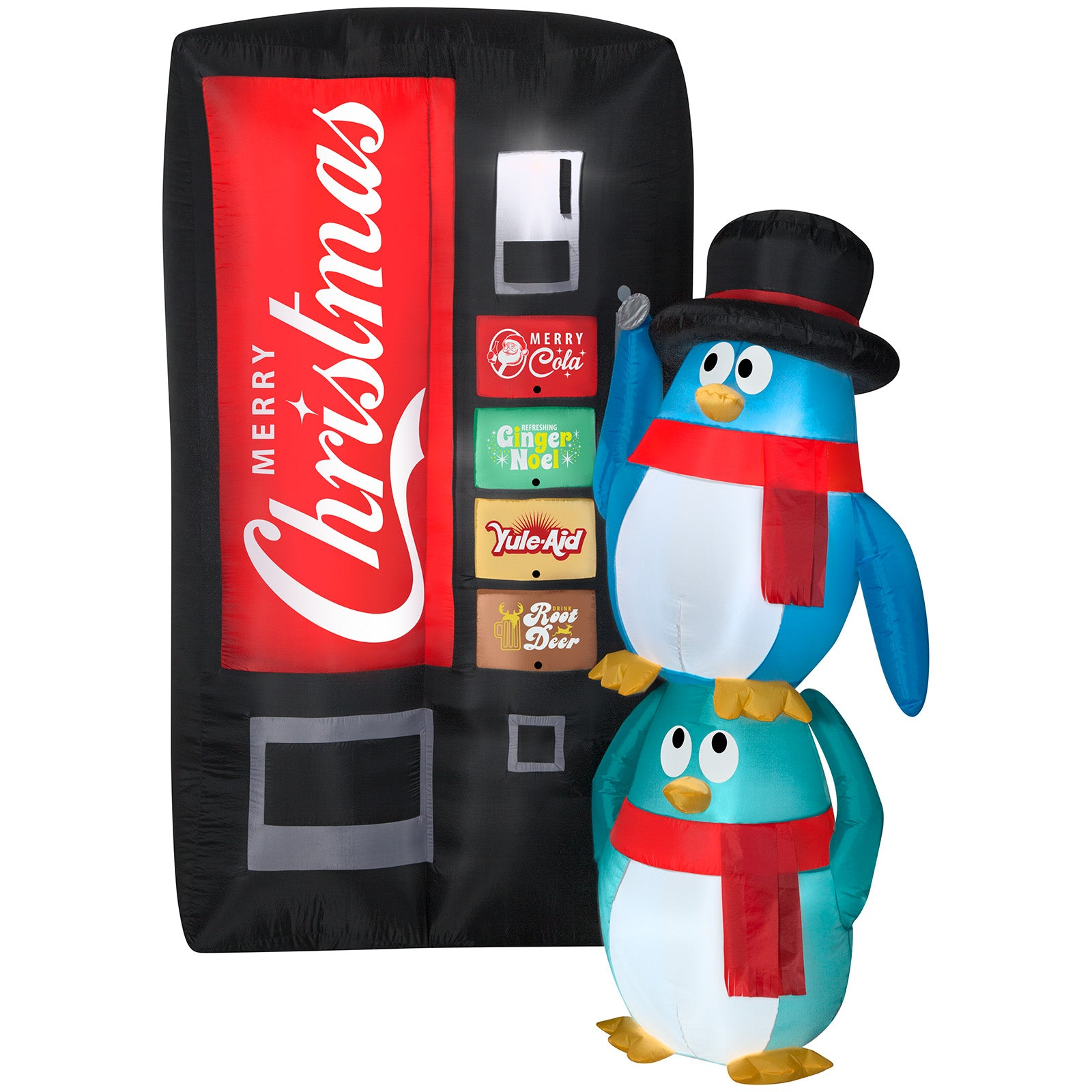 6.5' Airblown Merry Christmas Soda Machine Scene Christmas Inflatable