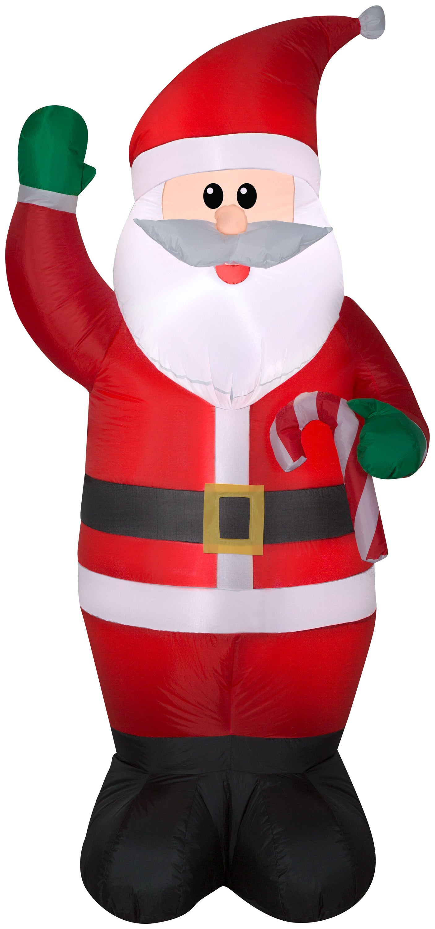 6.5' Airblown Santa Holding a Candy Cane Christmas Inflatable