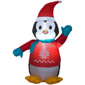 3.5' Airblown-Penguin w/Sweater Christmas Inflatable