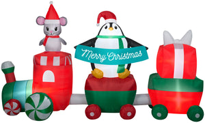 Gemmy 10.5' Airblown Inflatable Christmas Train Scene