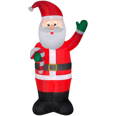 7' Airblown-Santa w/Candy Cane Christmas Inflatable