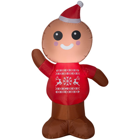 3.5' Airblown-Gingerbread Man Christmas Inflatable
