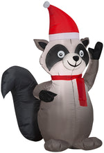 Load image into Gallery viewer, 3.5' Airblown Raccoon Christmas Inflatable