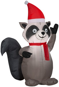 3.5' Airblown Raccoon Christmas Inflatable