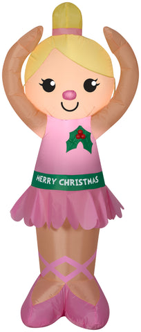 4' Airblown Ballerina Christmas Inflatable