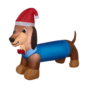 4.75' Airblown Weiner Dog Christmas Inflatable