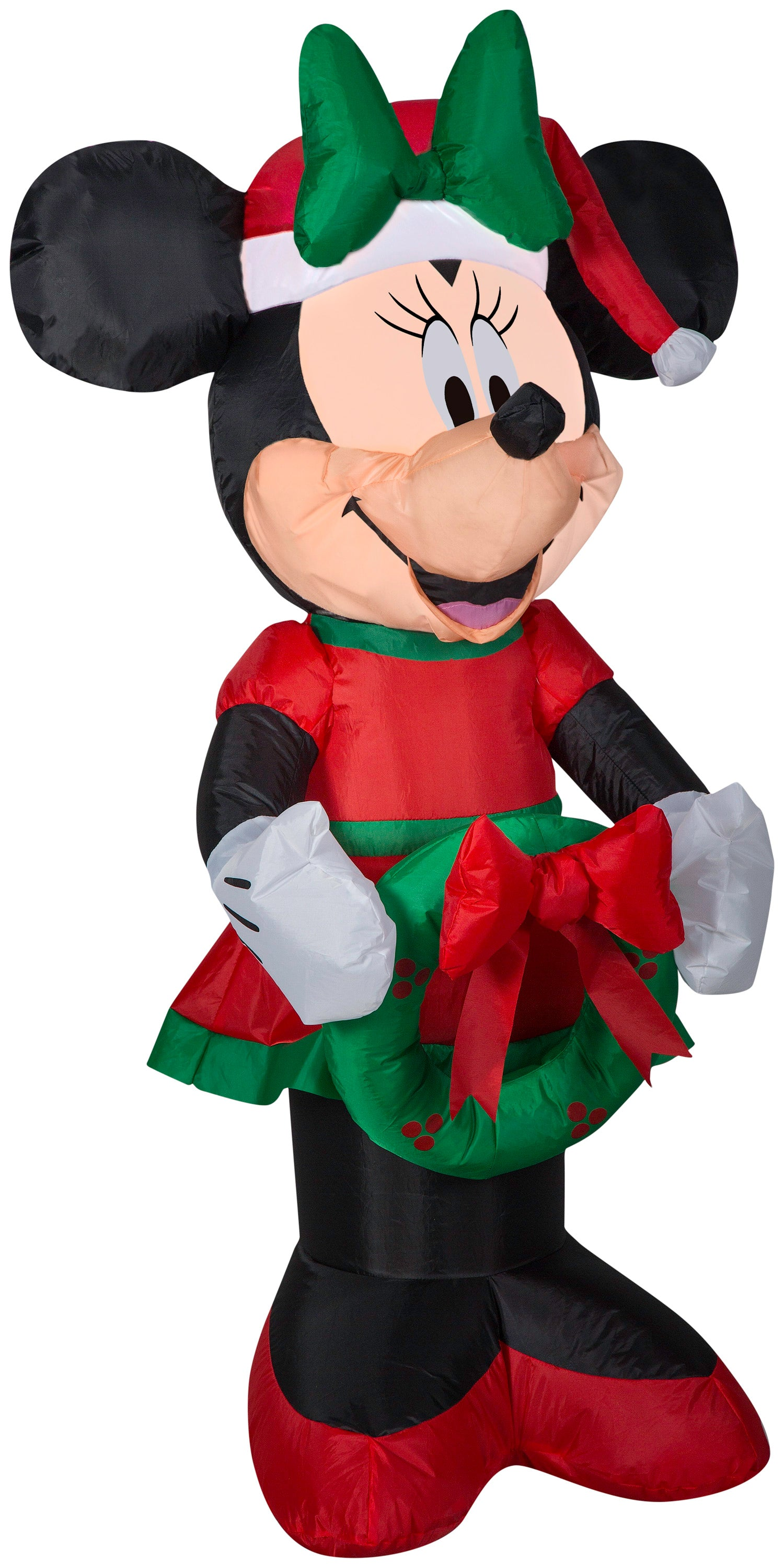 3.5' Airblown Minnie w/ Green Bow Disney Christmas Inflatable