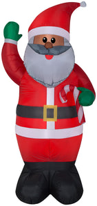 6.5' Airblown African American Santa Christmas Inflatable