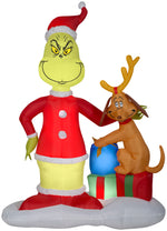 Load image into Gallery viewer, Gemmy 6' Airblown Grinch and Max w/Presents Scene Christmas Inflatable