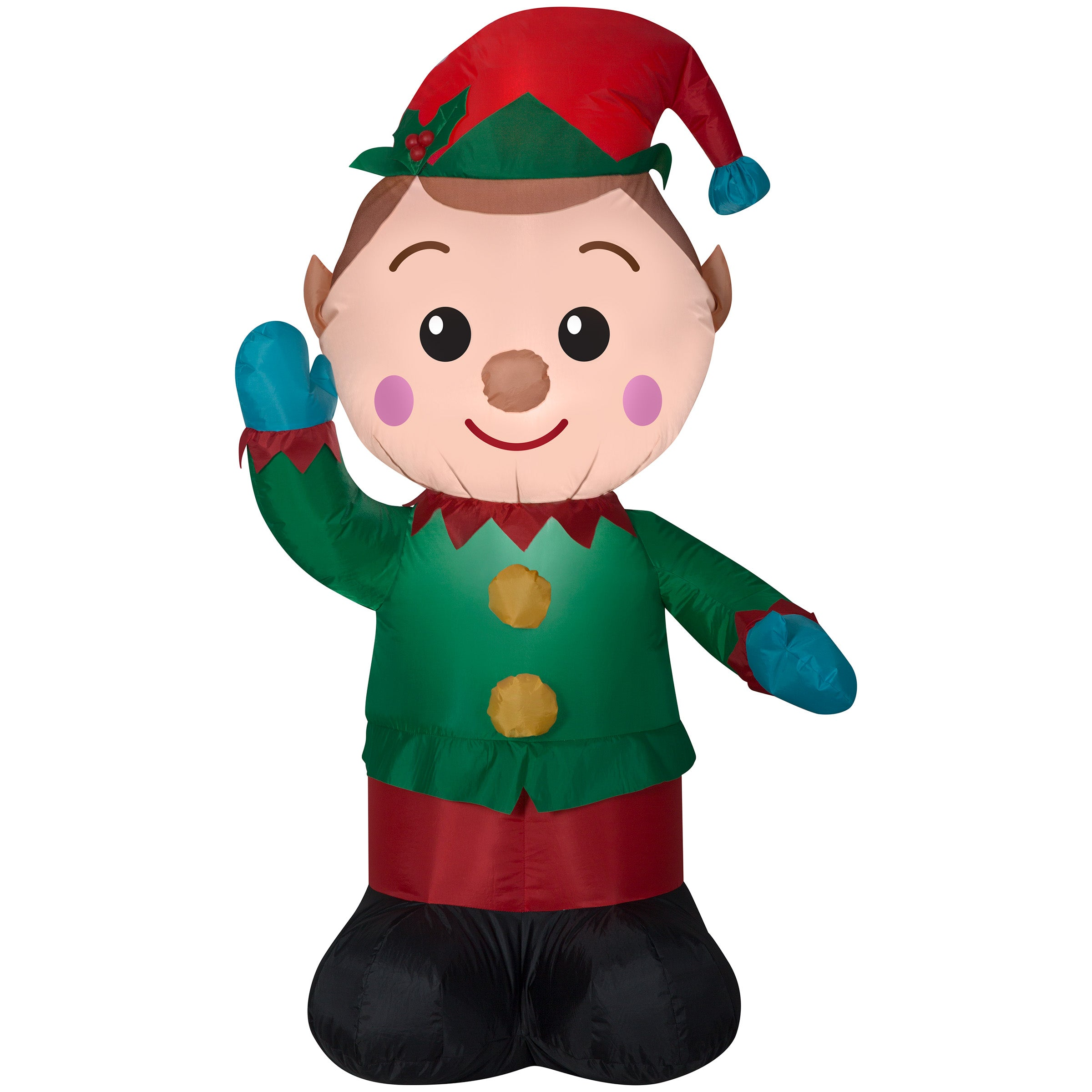 Gemmy Airblown Inflatable Christmas Elf 4'