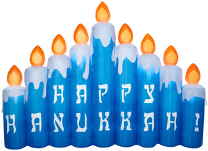 9' Airblown Hanukkah Candles Scene Hanukkah Inflatable