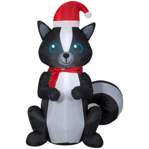 3.5' Airblown Skunk Christmas Inflatable
