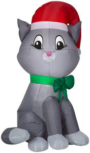3.5' Airblown Cat Christmas Inflatable
