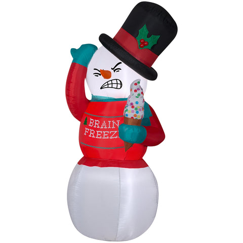 6' Animated Airblown-Shivering Snowman w/Ugly Sweater Christmas Inflatable