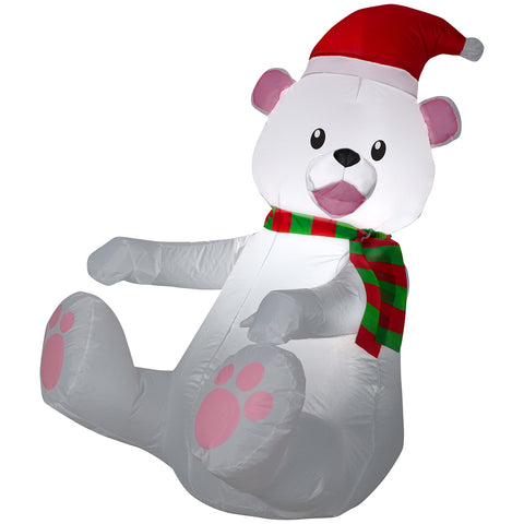 3.5' Airblown Polar Bear Christmas Inflatable