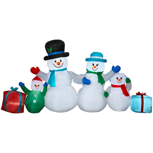 9' Wide Airblown-Winter Snowman Collection Scene Christmas Inflatable