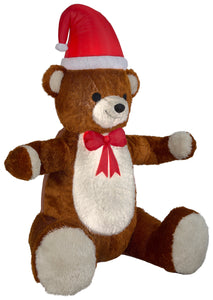 7.5' Animated Airblown Mixed Media Hugging Teddy Bear Christmas Inflatable