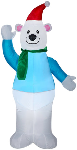 5' Airblown Polar Bear Christmas Inflatable
