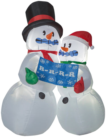 6' Animated Airblown Shivering Snow Couple Christmas Inflatable