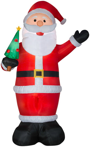 12' Airblown Santa Holding Tree Christmas Inflatable